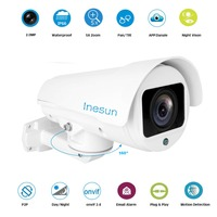 Inesun Outdoor HD 1080P 2MP Bullet PTZ IP Security Camera 5X Optical Zoom Support H 265