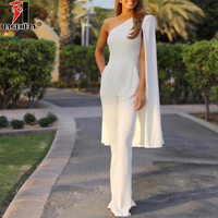 HAGEOFLY Women's Jumpsuits One Shoulder Batwing Sleeve Full Length Sexy Bodycon Bodysuit Wedding Party Fashion Jumpsuit 2018