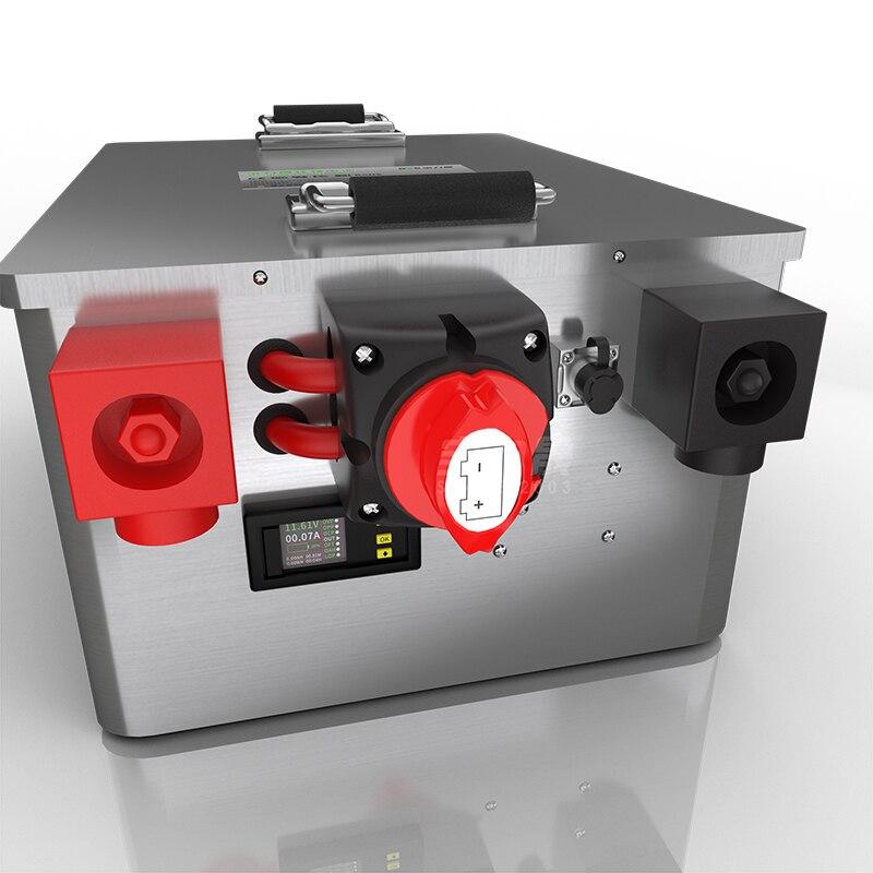 Boîte en acier inoxydable pour batterie LiFePo4 personnaliser for16PCS 150ah 48V120AH 150 AH 24v300AH-switch-coulometer pour EV RV solaire