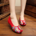 2017 big size 41 Summer New Pattern Old Beijing Nation The Wind Embroidered Cotton Slope Slipper Chinese Style