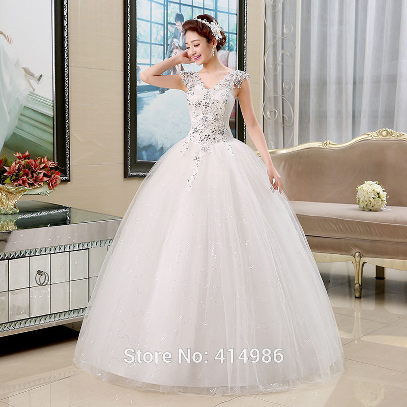 79a28a7f25 Free shipping 2015 new arrival romantic white wedding dress cheap fashion  wedding gown bride wedding Vestidos De Novia HS141-in Wedding Dresses from  ...