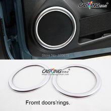 Estilismo de coches interior del altavoz Recortar decoración círculo anillos decorativos molduras para VW Escarabajo