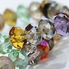 ФОТО 300pcs china high quality 5040 assorted crystal beads 4mm 6mm 8mm 10mm 12mm 14mm supply faced glass beads crystal rondelles bead