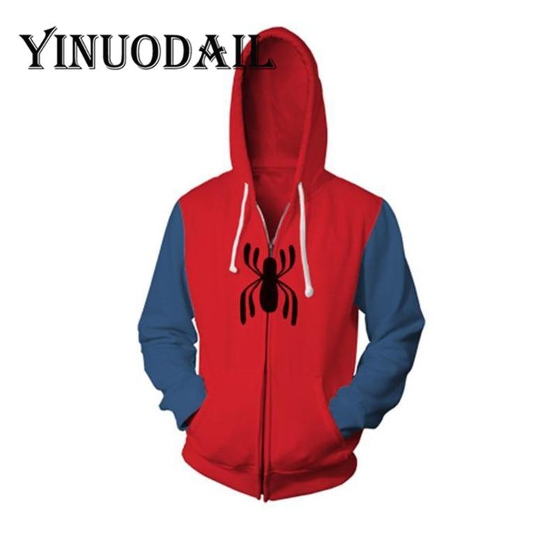 Les Fans portent Marvel Spiderman Cosplay 3D vestes unisexe à manches longues Sweat pour femmes et hommes vêtements 2018 Sweat Homme