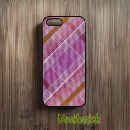 Pink font b Tartan b font phone case cover for samsung galaxy s3 s4 s5 s6