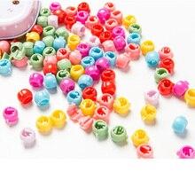 30 шт. цветная шпилька конфет для девочек, милая пластиковая пряжка для изготовления косичек для волос, очаровательные бусины, заколки для волос, аксессуары