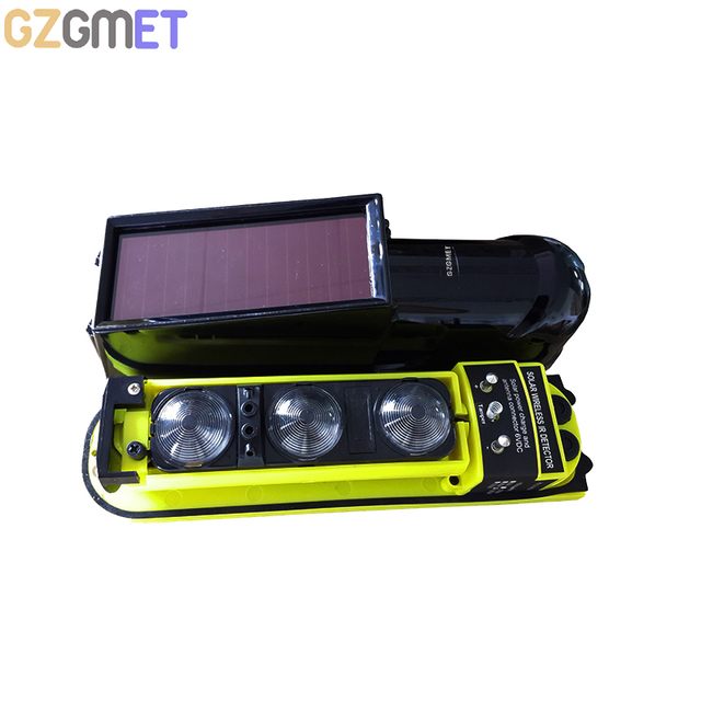 GZGMET Solar Power Panel Passive Infrared Beam Detector Smart Home Security Alarm Host Driveway Window Sensor