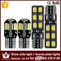 2pcs show wide light canbus 5730 8smd led + 2pcs license plate lights Special car 2835  12smd led kit For honda CR-V 08