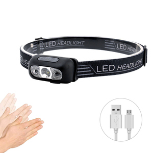 Linterna de cabeza XPE resistente al agua con Sensor de movimiento 5W, Mini linterna frontal LED para pesca, faro para Camping, senderismo, pesca nocturna