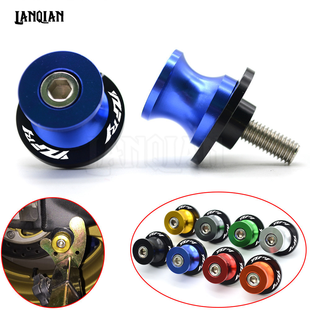 For YAMAHA YZF R1 CNC Motorcycle Swingarm Spools Slider Swing arm Stand Screws 1999-2018 2003 2004 2005 2006 2007 2008 2009 2010 2pcs universal motorcycle stand screws cnc swingarm swing sliders spools m6 m8 m10 for yamaha r3 honda crf 450 suzuki gn250