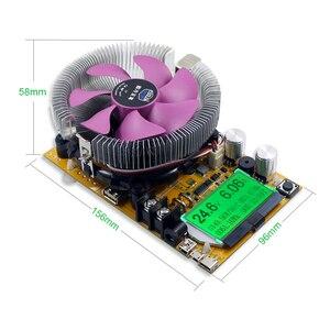 Image 3 - 150W Digital battery capacity tester voltmeter adjustable constant current electronic load charger usb ameter meter indicator