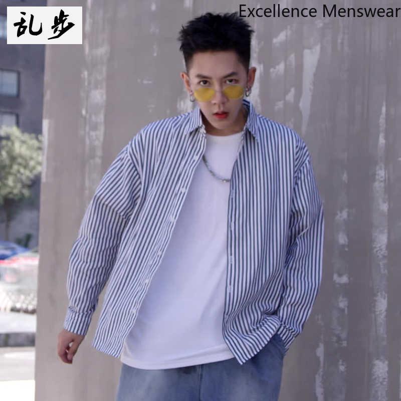 夏 2019 縦ストライプ長袖 Tシャツカジュアルトップ日焼けコート高品質シャツ男性の韓国のファッション WW