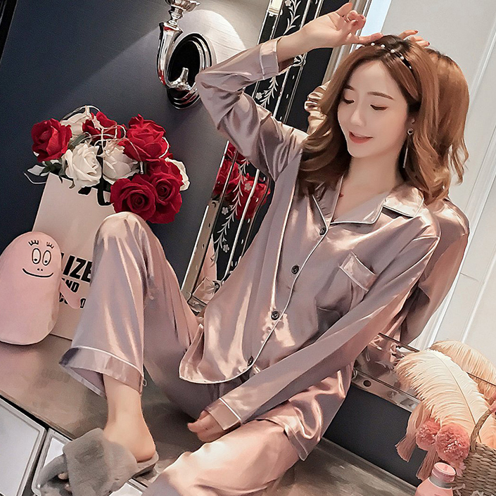 2019 New Gift Pajama Sets For Women Casual Long Sleeve Nightgown Girls Cute Sleepwear Spring&autumn Luxurious Home Clothes