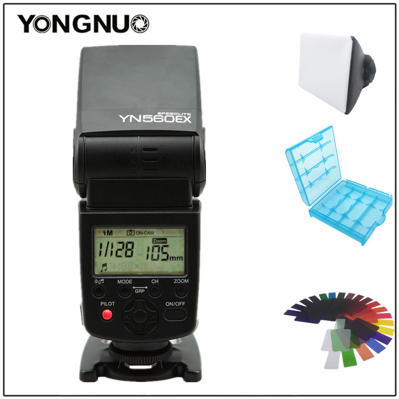 Yongnuo YN-560EX YN560EX Wireless TTL Speedlight Flash For Canon Nikon camera 1000D,600D,550D,D5000, D3100 D70, D60 400D, 350D