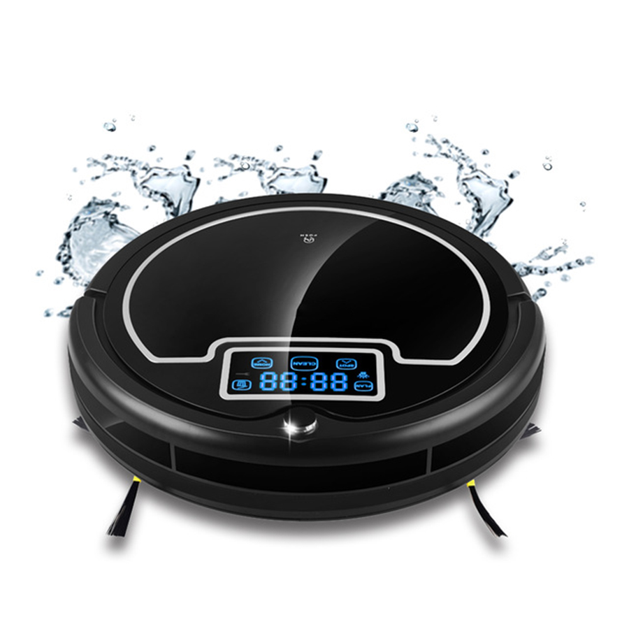 Fast Delivery Robot Vacuum Cleaner with Water Tank,Wet&Dry,TouchScreen,Big Mop,Schedule,Virtual Blocker cleanmate robot vacuum cleaner qq6 mini cleaner ultrasonic app in wifi control dry wet mop water tank virtual wall