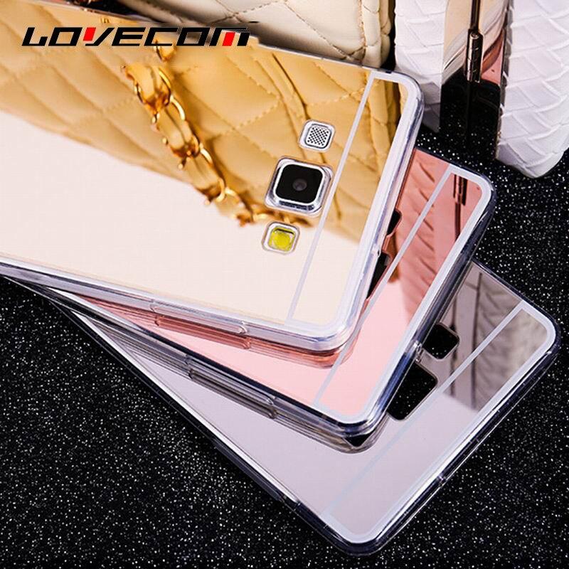 DIY Material Ultra Slim Mirror Soft TPU For Samsung Galaxy J1 J2 J3 J5 J7 (2015)(2016) A3 A5 A7 (2017) Phone Case Cover Coque