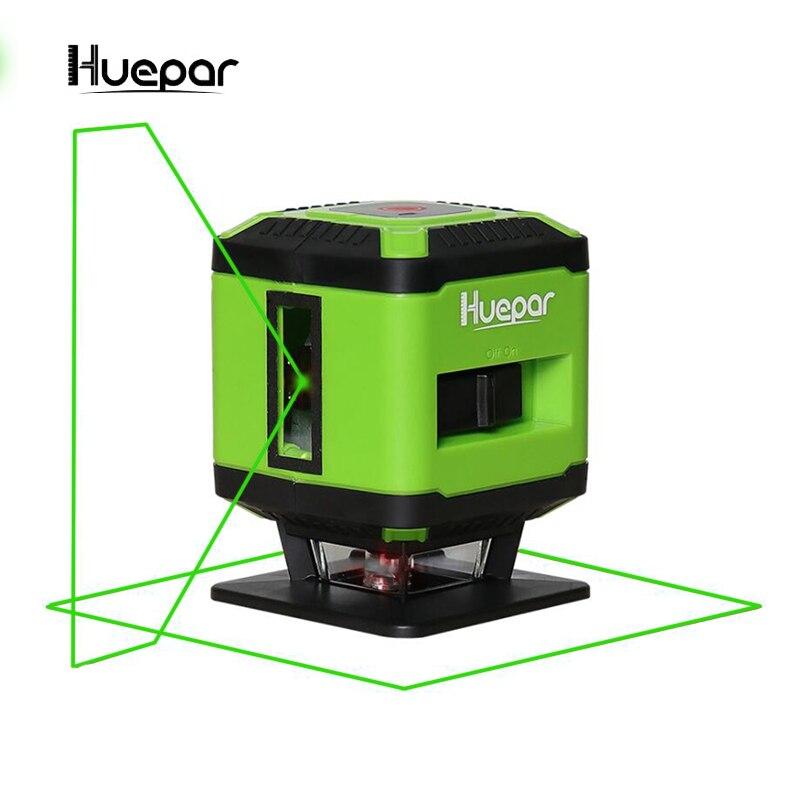 Huepar Laser Level green be a m 5 Lines 360 Degrees Self Leveling Mini Portable Instrument