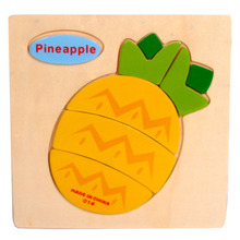 High Quality Wooden Pineapple Puzzle Educational Developmental Baby Kids Training Toy Aug24