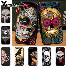 f35c2f07fbb39 Yinuoda Mexican Skull Girl tattooed Art Top Detailed Popular Case for  iPhone 7plus X XS XR