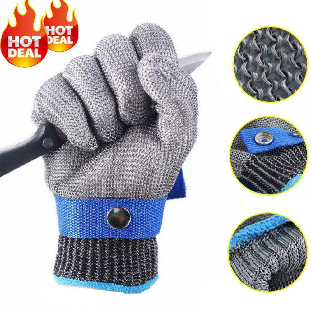 100% High Quality Meat Butcher Working Protective Gloves Steel Stainless With Flexible Wrist Strap