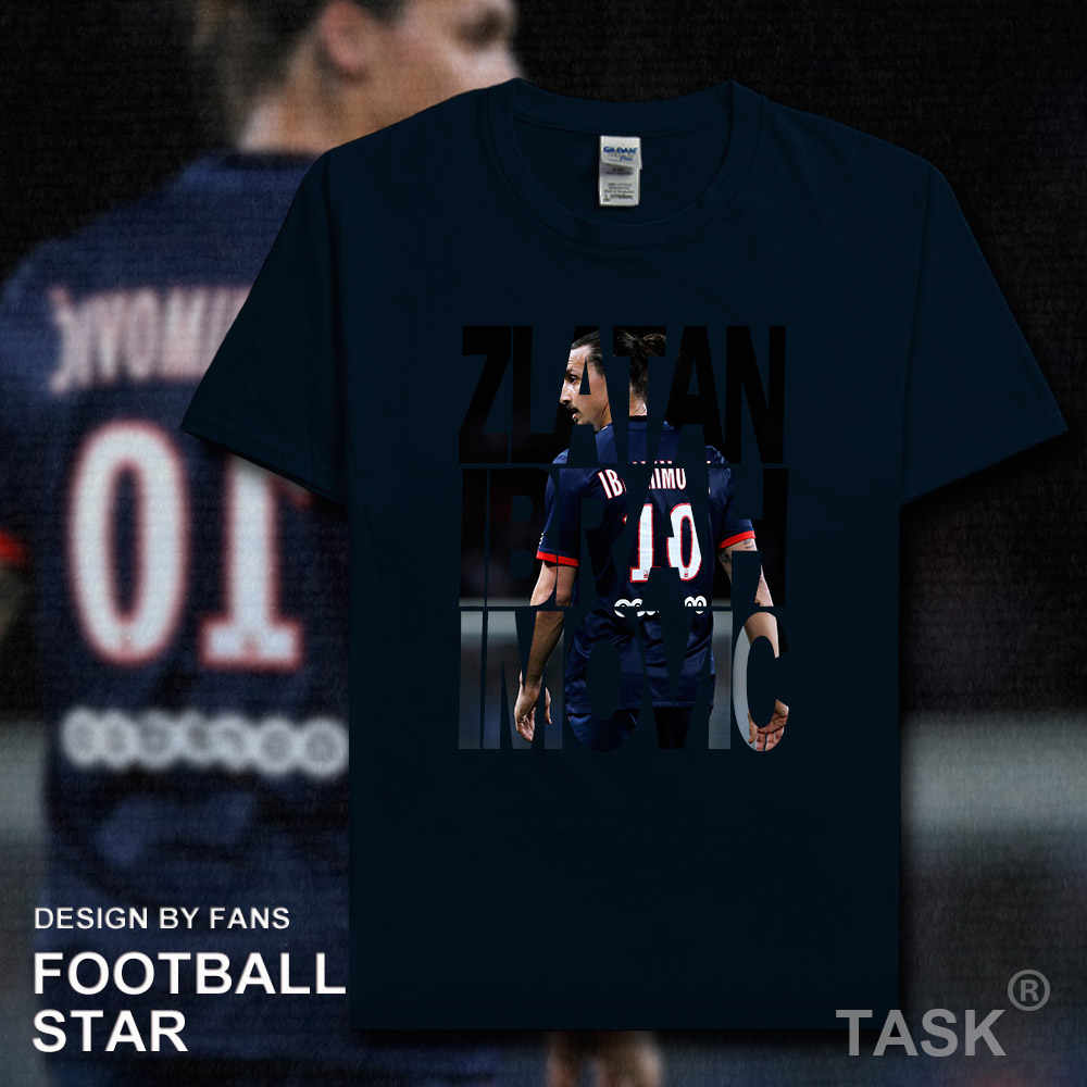 online retailer d7d6e f3316 Zlatan Ibrahimovic t shirt 2018 jersey Swedish Los Angeles ...