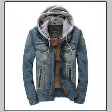 2015 Autumn Winter Men Thicken Denim Jacket Short Casual Winter Jacket Coat For Mens Plus Size Denim Coat H5408