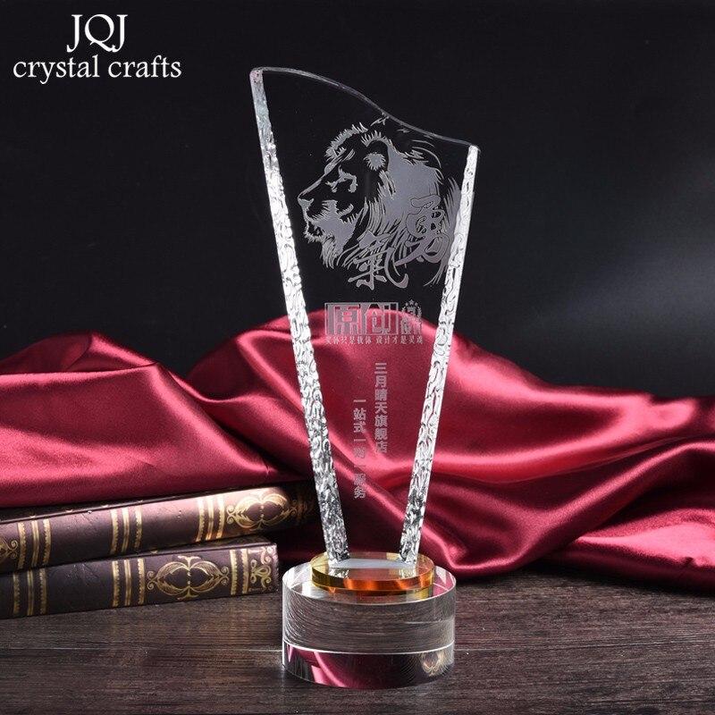27*10*8 cm Su Misura Trofeo Di Cristallo Eventi Awards Da Ginnastica di Sport di Vetro Fiammiferi Onore Medaglie Anniversario Souvenir Complementi Arredo Casa