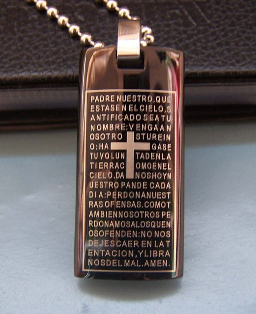 Wholesale Popular hot sell New Guaranteed 100% Man's Stainles Steel Bible Pendants free chain + free shipping