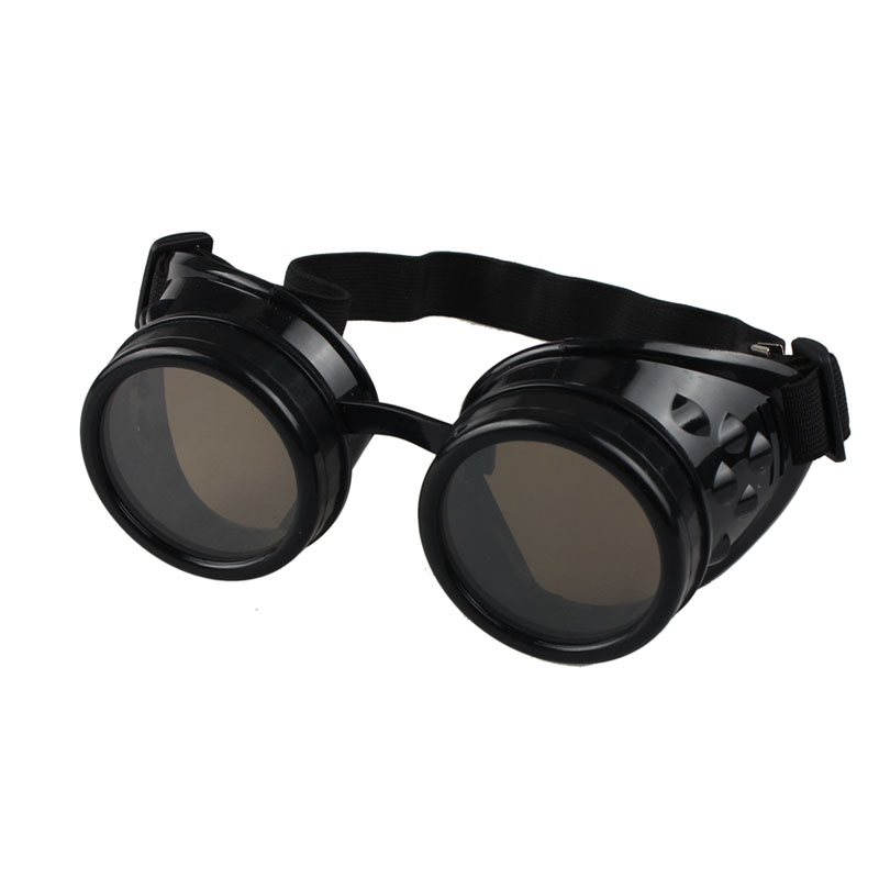 Motorcycle Driver Goggles Vintage Style Steampunk Goggles Welding Punk Glasses Cosplay Black Red Yellow