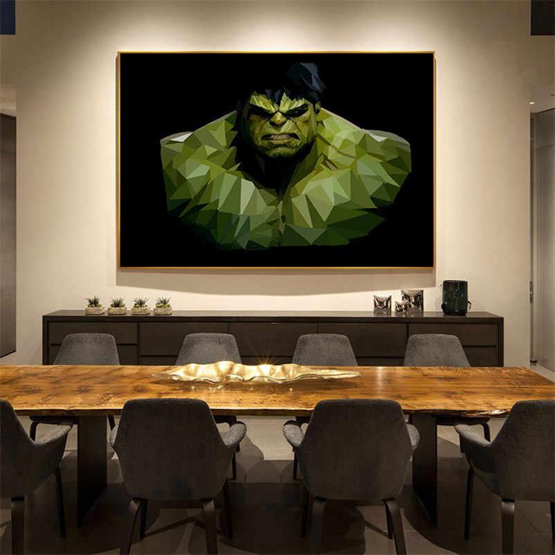 الحديث الشهيرة الفيلم المشارك خمر ريترو المشارك الحديد الرجل الخفاش رجل الحضانة الفن يطبع قماش اللوحة جدار صور للأطفال غرفة