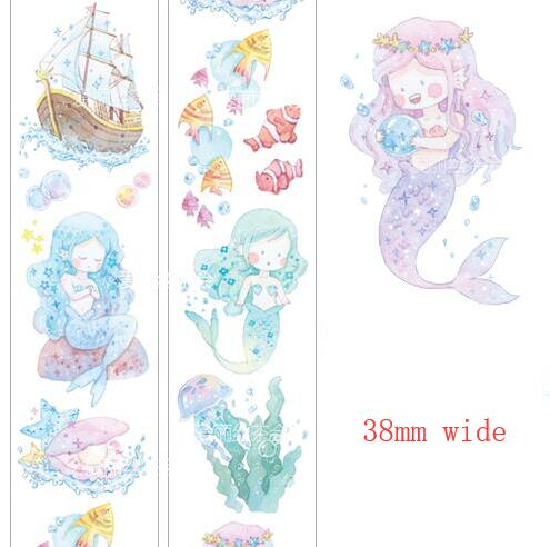 38mm wide Fairy Tales series The Little Mermaid Washi Tape DIY Scrapbooking Sticker Label Masking Tape School Office Supply38mm wide Fairy Tales series The Little Mermaid Washi Tape DIY Scrapbooking Sticker Label Masking Tape School Office Supply