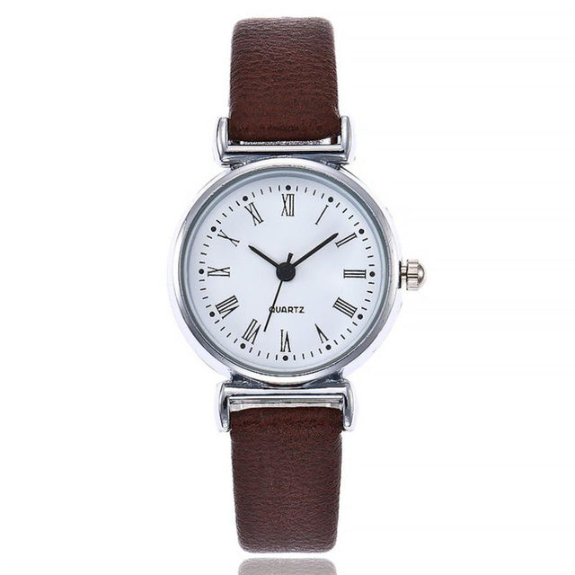 Top Brand Women Bracelet Watch Small Dial Contracted Leather WristWatches Women