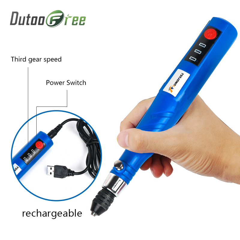 Dutoofree Mini Electric Engraving Machine With Cutting Power Tool Hand Drill Cordless Drill Wood Machine Lithium Carving Pen