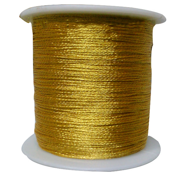Golden Yellow Twine Ply Yarn Cannetille Purl Cord+DIy Jewelry Accessories  Bracelet  Macrame Rope Earrings String