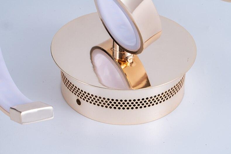 Nórdico moderno metal interior led lâmpada de