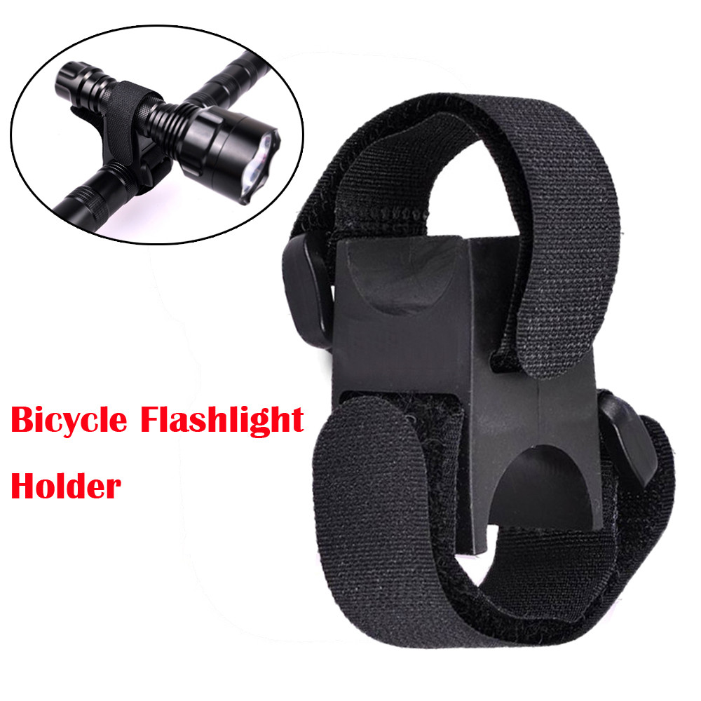 3Pcs Bicycle Flashlight Clip LED Torch Light Holder Mount With Adhesive Strap