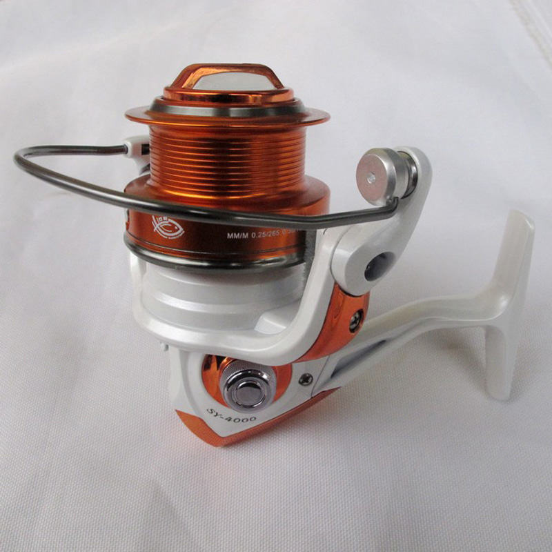 Free Shipping 11 Bearing SY4000  Light  Wire Cup Long Shot Casting Front Drag Spinning Reel Lure Metal Head Fishing Reels new type superior metal arm 13 1bb 4000 7000 series surf spinning fishing reels big long shot casting fly sea wire cup wheels