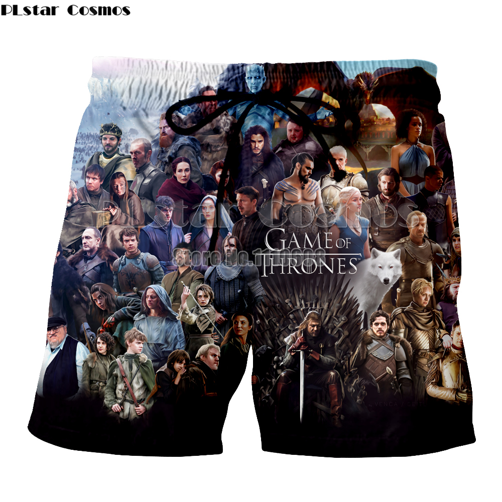 Plstar Cosmos Fashion Casual Men Women Shorts Summer Short Pants Game Of Thrones  Men Casual Beach Shorts