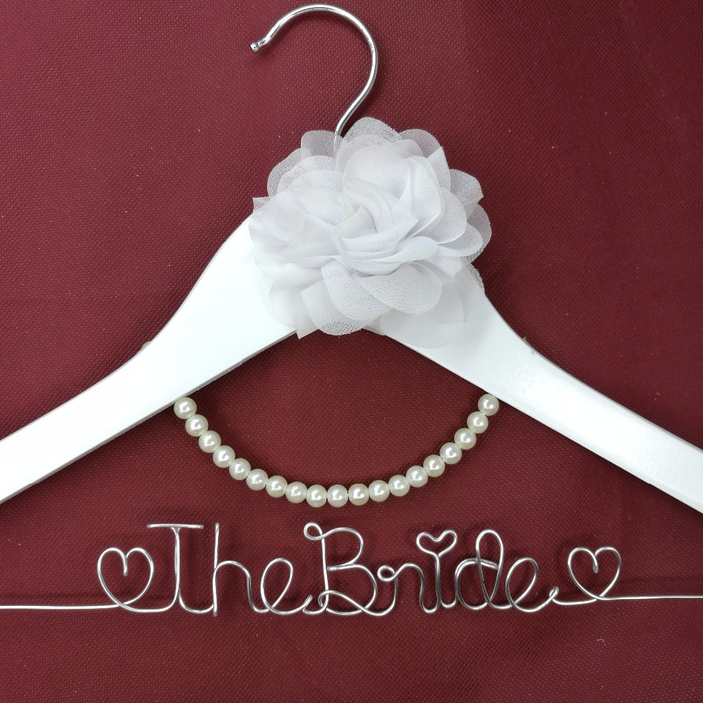 Flower Girl Wedding Gifts: Flower Girl Hanger Personalized Wedding Hanger, Bridesmaid