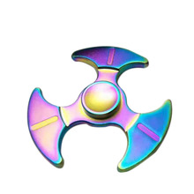 High Quality Hand Spinner Colorful Fidget Sickle Fingertip Gyro Zinc Alloy Handspinner EDC Toys