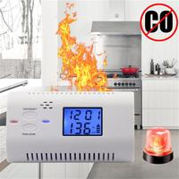 Home Security Co Carbon Monoxide Detector LCD Display Alarm Poisoning Gas Fire Voice Warning High Sensitive