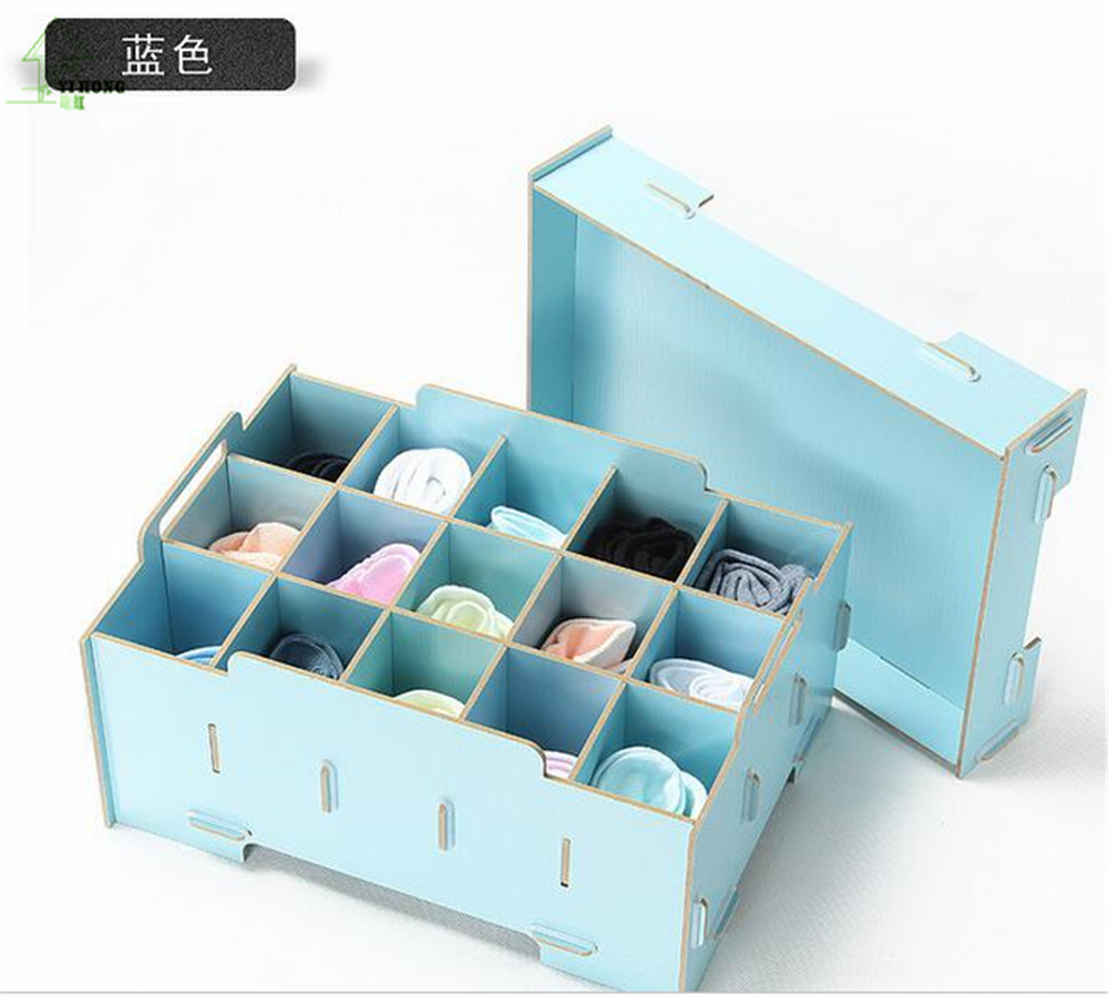 YIHONG mode bijoux A1049 cosmétiques bricolage boîte de rangement en bois boîte à bijoux sous-vêtements chaussettes boîte de rangement A1049c