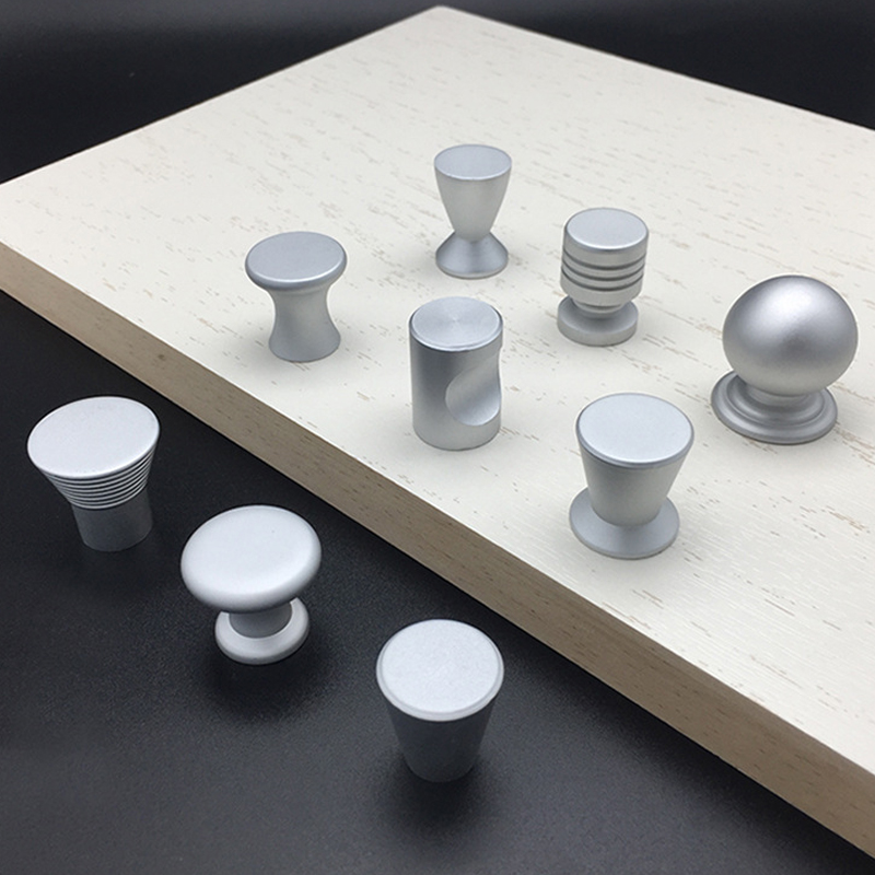 Aluminum Alloy Single Hole Cabinet Handles Simple Wardrobe Door Pull Knobs For Furniture Hardware Drawer Accessories