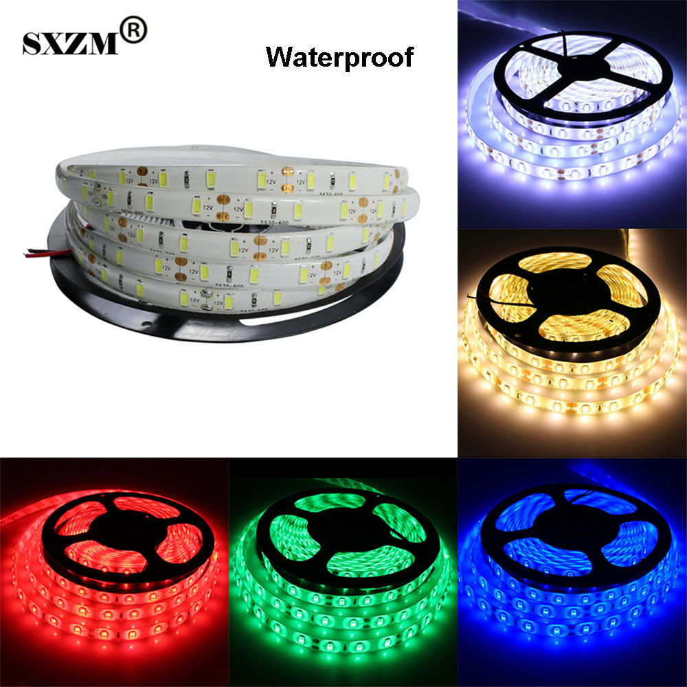 SXZM DC12V 5630 LED strip light 5Meter 300 leds White/Warm white/Red/Green/Blue Indoor or outdoor Light tape lighting