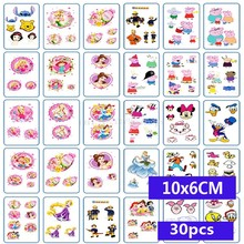 30pcs Waterproof Temporary Tattoos Sleeve Snowflake anime Artificial Flowers Tatoo Many Designs Sex Men Beauty Body Art 3d Tatto(China)