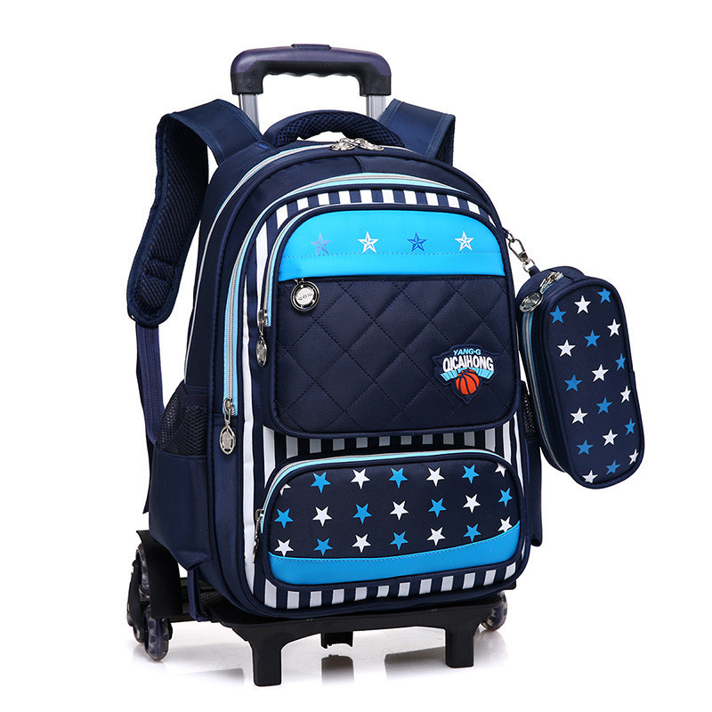 купить Flash Six Wheels Children Trolley School Bag Backpack Wheeled Schoolbag for Boys Girls Students Backpack Travel Luggage Mochilas недорого
