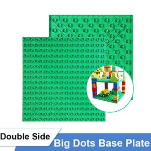Image 4 - Classic Big Size Slide Building Blocks House Figures Aminals Assembly Blocks Plastic Castle Compatible Duploed DIY Bricks Gift