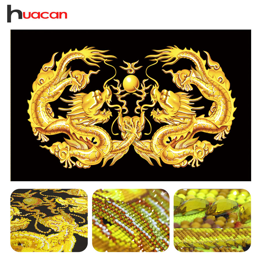 Huacan Special Shaped Dragon Diamond Painting Mosaic Wall Decor DIY 5D Diamond Embroidery Cross Stitch Animals Needle GiftHuacan Special Shaped Dragon Diamond Painting Mosaic Wall Decor DIY 5D Diamond Embroidery Cross Stitch Animals Needle Gift