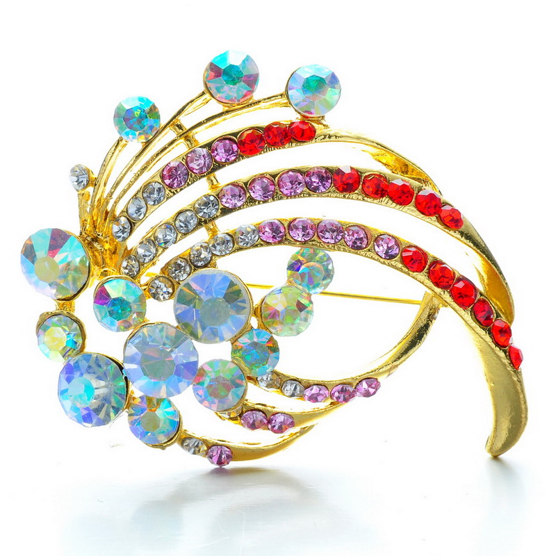 Romantic Brooch for women colorful crystal Rhinestone brooches small beautiful gift for girlfriend Brooches decoration jewelry