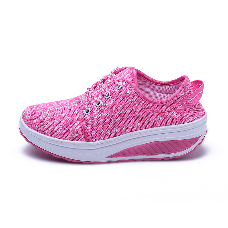 Fashion Breathable Children Shoes Sport Casual Girls Increase Sneakers Air Mesh Breath Female Child & Women Shake Shoes